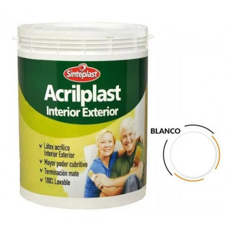 Pintura Látex Acrilplast Interior/exterior 1 Lt Blanco