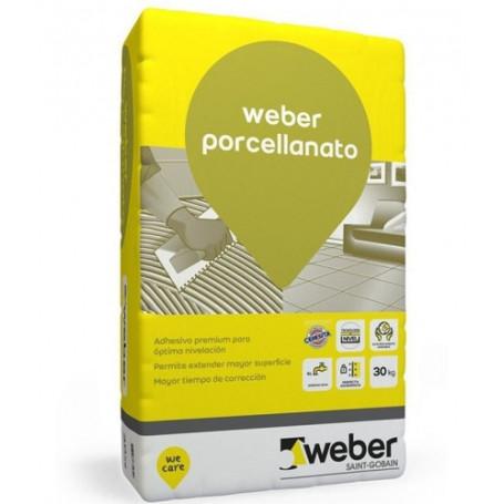 Adhesivo Weber Porcellanato X 30 Kg