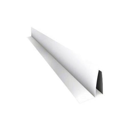Perfil Perimetral Pvc Blanco F Para Machimbre De10mm X 3mts Largo