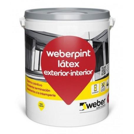 Pintura Látex Weber Exterior Interior Blanco 10lts