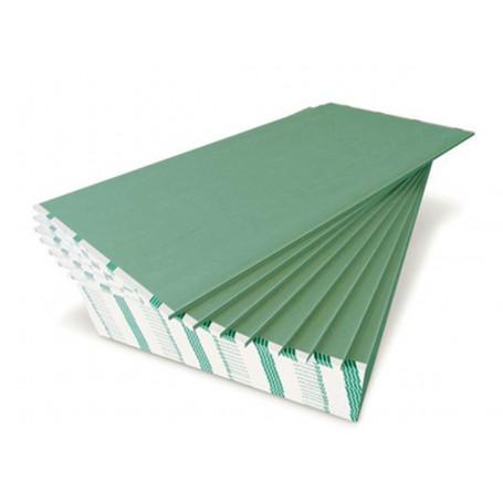 Placa De Yeso Antihumedad Verde Novoplack 2.4m 12.5mm
