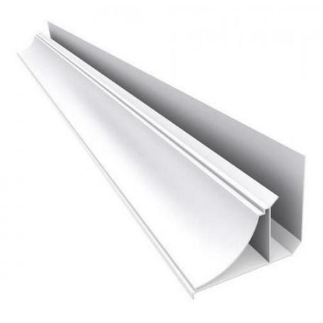 Pvc Blanco Perimetral Moldura Steel Plastic 14,5mm X 4,00m